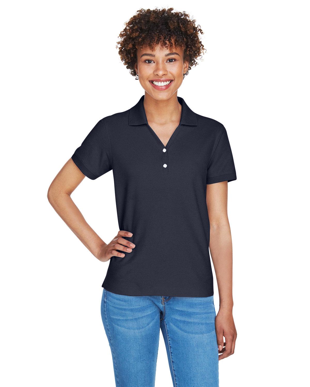 Devon & Jones Ladies' Pima Piqué Short-Sleeve Y-Collar Polo NAVY