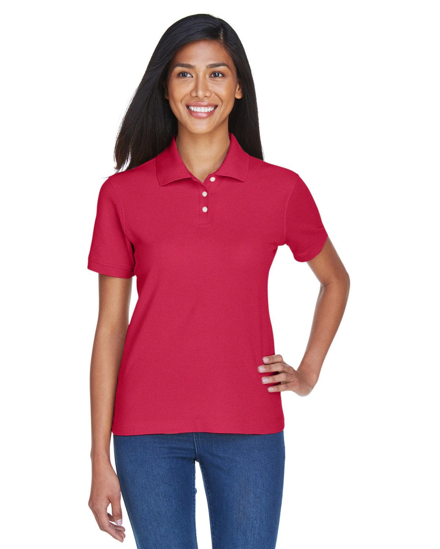 Devon & Jones Ladies' Pima Piqué Short-Sleeve Polo RED