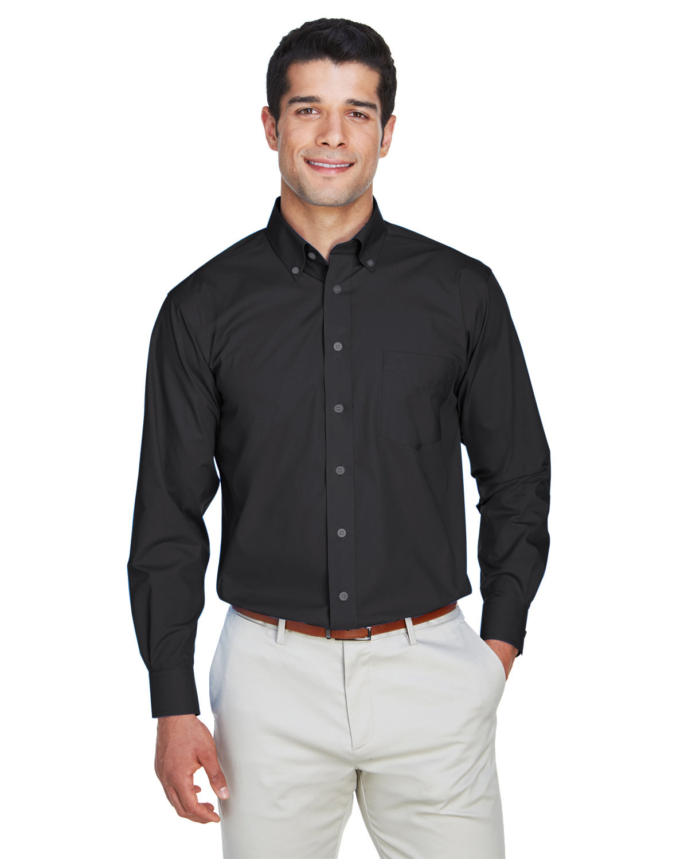 Devon & Jones Men's Crown Woven Collection® Solid Broadcloth BLACK