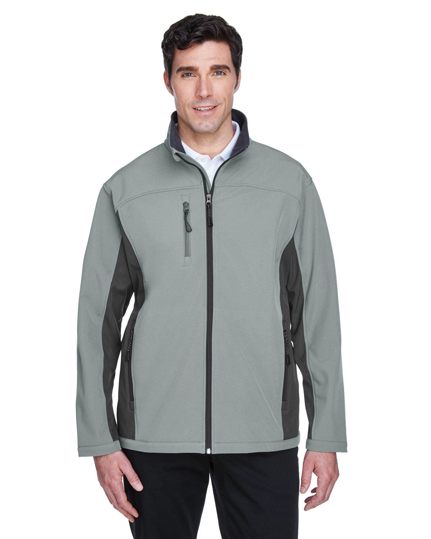 Devon & Jones Men's Soft Shell Colorblock Jacket CHARCL/ DK CHRCL