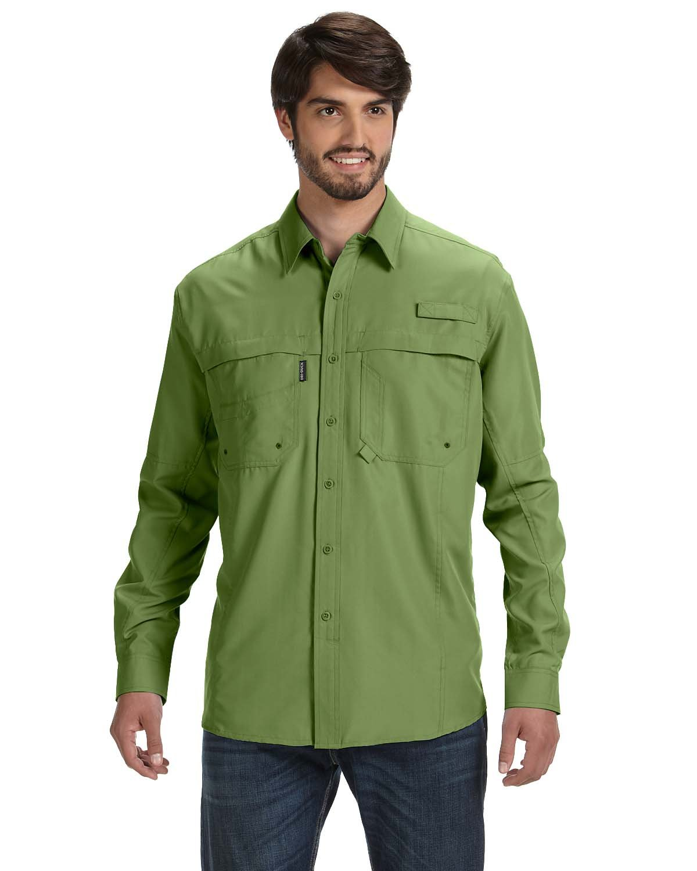 Dri Duck Men's 100% polyester Long-Sleeve Fishing Shirt GRASS