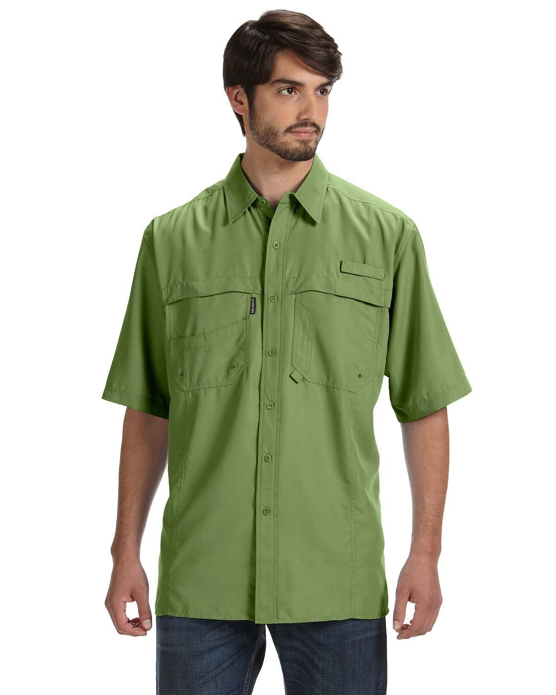 Dri Duck Men's 100% Polyester Short-Sleeve Fishing Shirt GRASS