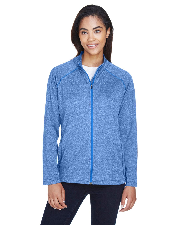 Devon & Jones Ladies' Stretch Tech-Shell® Compass Full-Zip FRENCH BLUE HTHR