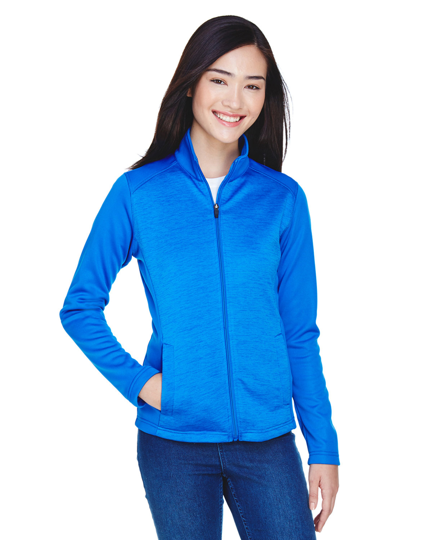 Devon & Jones Ladies' Newbury Colorblock Mélange Fleece Full-Zip FRCH BL/ F BL HT