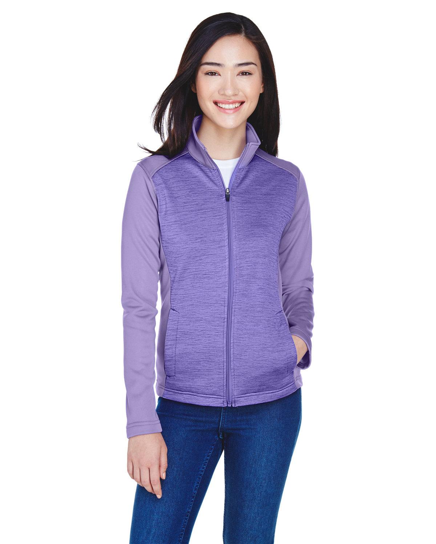 Devon & Jones Ladies' Newbury Colorblock Mélange Fleece Full-Zip GRAPE/ GRAPE HTH