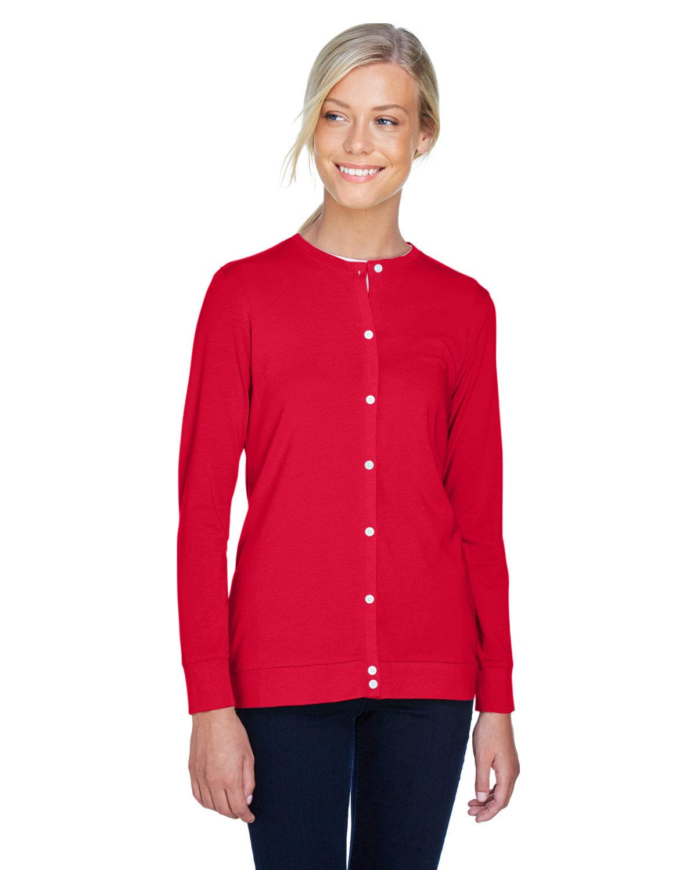 Devon & Jones Ladies' Perfect Fit™ Ribbon Cardigan RED