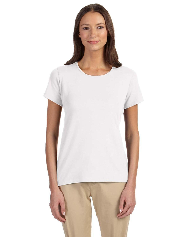Devon & Jones Ladies' Perfect Fit™ Shell T-Shirt WHITE