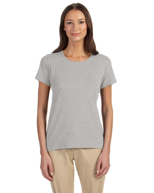 Devon & Jones Ladies' Perfect Fit™ Shell T-Shirt GREY HEATHER