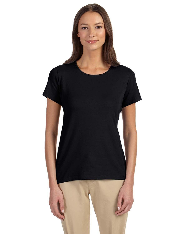 Devon & Jones Ladies' Perfect Fit™ Shell T-Shirt BLACK