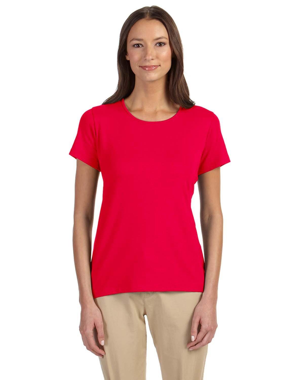 Devon & Jones Ladies' Perfect Fit™ Shell T-Shirt RED