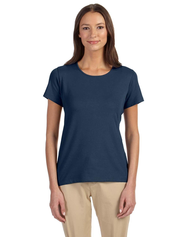 Devon & Jones Ladies' Perfect Fit™ Shell T-Shirt NAVY
