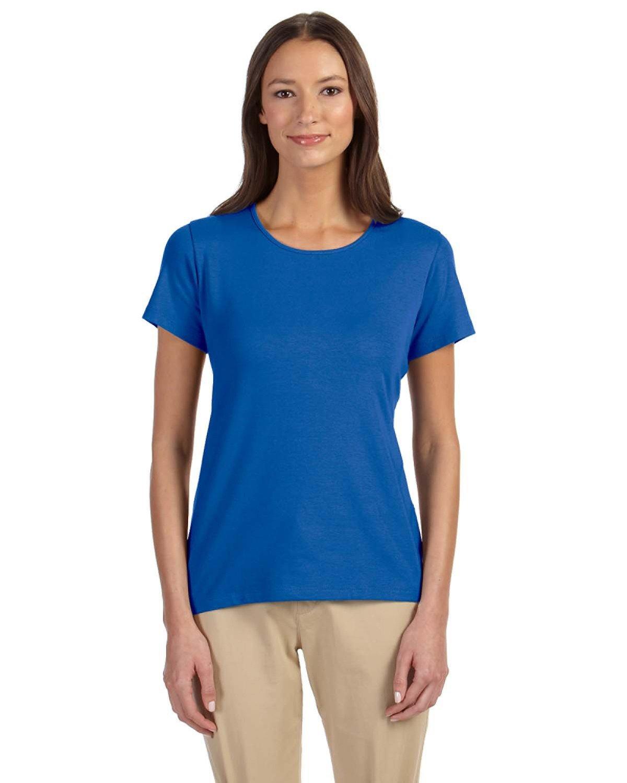 Devon & Jones Ladies' Perfect Fit™ Shell T-Shirt FRENCH BLUE