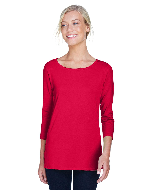 Devon & Jones Ladies' Perfect Fit™ Ballet Bracelet-Length Knit Top RED