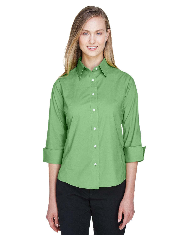 Devon & Jones Ladies' Perfect Fit™ 3/4-Sleeve Stretch Poplin Blouse LIME