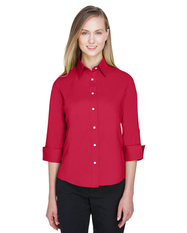 Devon & Jones Ladies' Perfect Fit™ 3/4-Sleeve Stretch Poplin Blouse RED