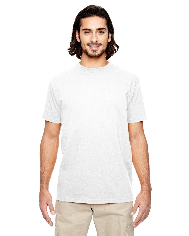 econscious Men's 100% Organic Cotton Classic Short-Sleeve T-Shirt WHITE