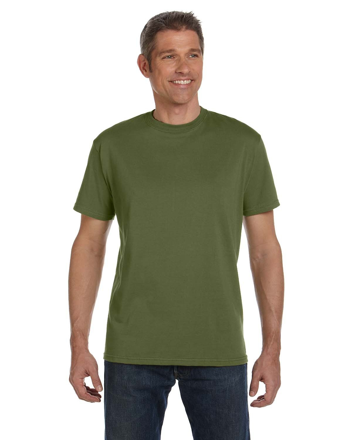 econscious Men's 100% Organic Cotton Classic Short-Sleeve T-Shirt OLIVE