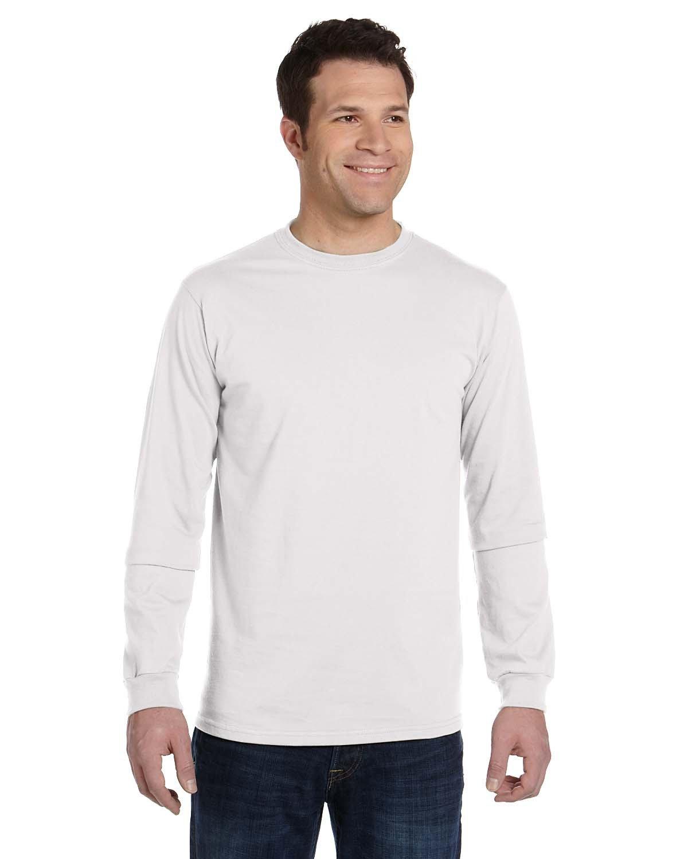 econscious Men's 100% Organic Cotton Classic Long-Sleeve T-Shirt WHITE
