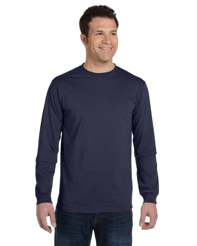 econscious Men's 100% Organic Cotton Classic Long-Sleeve T-Shirt PACIFIC
