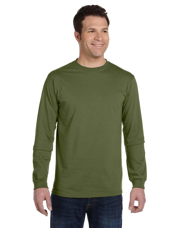 econscious Men's 100% Organic Cotton Classic Long-Sleeve T-Shirt OLIVE