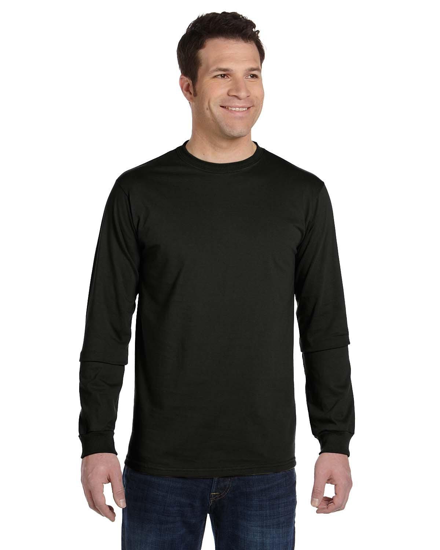 econscious Men's 100% Organic Cotton Classic Long-Sleeve T-Shirt BLACK