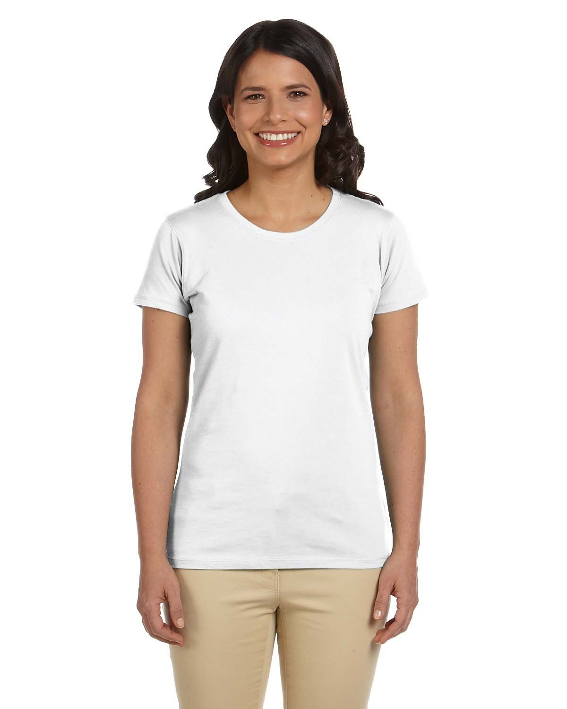 econscious Ladies' 100% Organic Cotton Classic Short-Sleeve T-Shirt WHITE