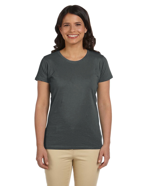 econscious Ladies' 100% Organic Cotton Classic Short-Sleeve T-Shirt CHARCOAL