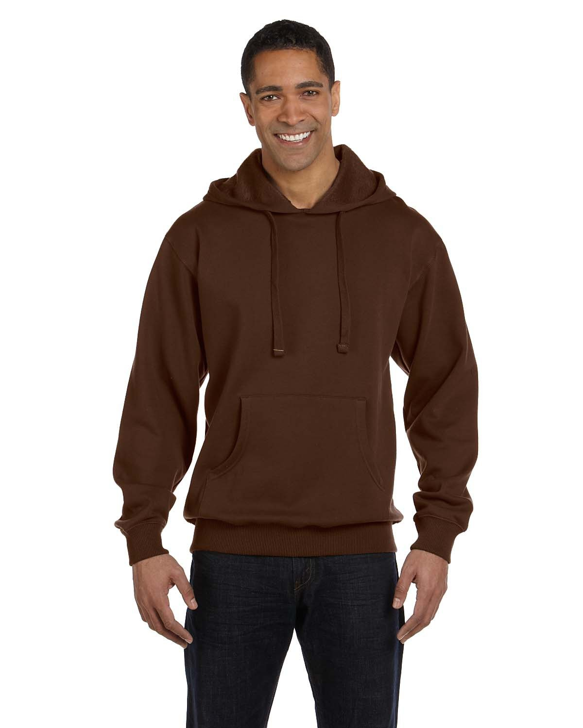 econscious Adult Organic/Recycled Pullover Hooded Sweatshirt EARTH