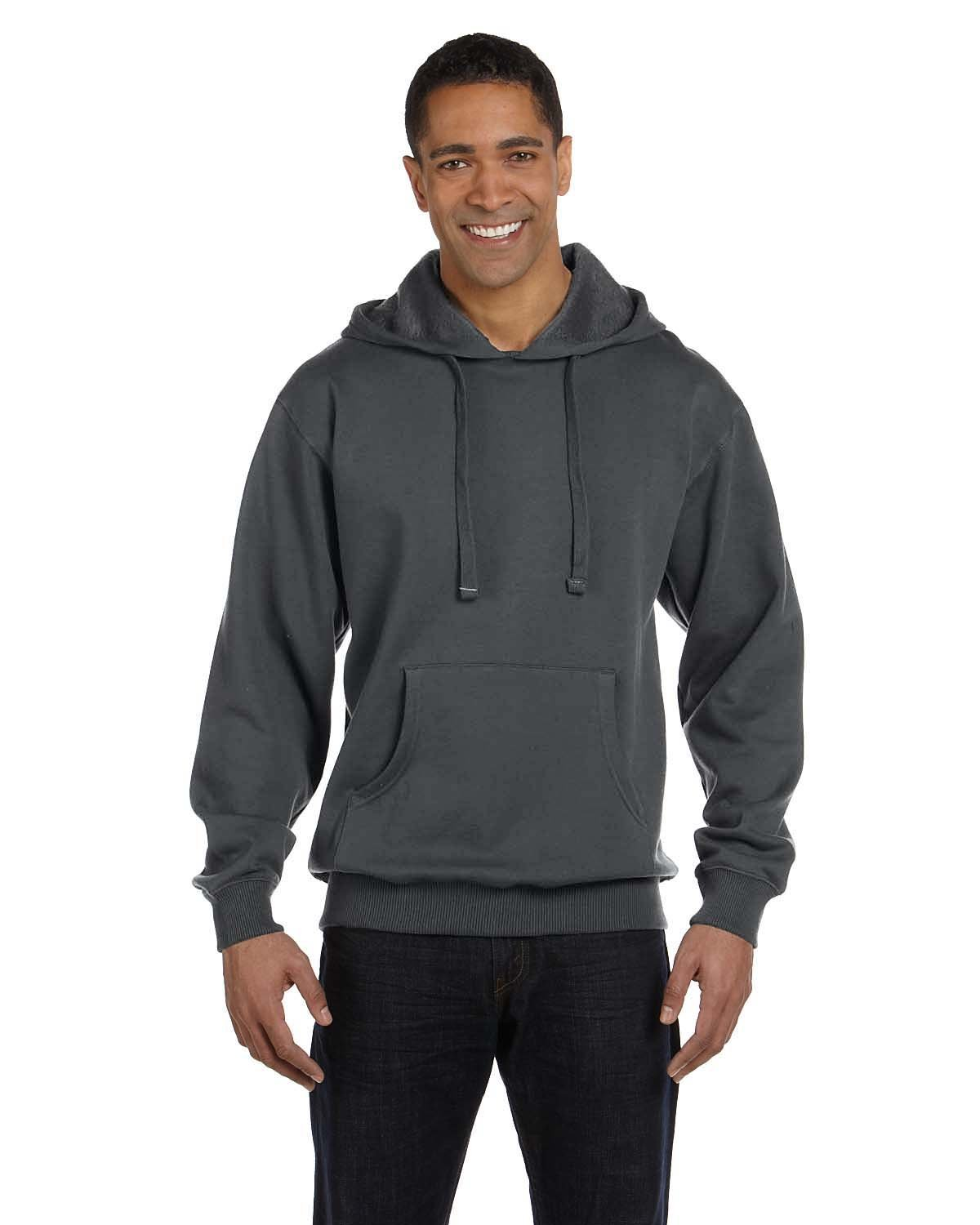 econscious Adult Organic/Recycled Pullover Hooded Sweatshirt CHARCOAL