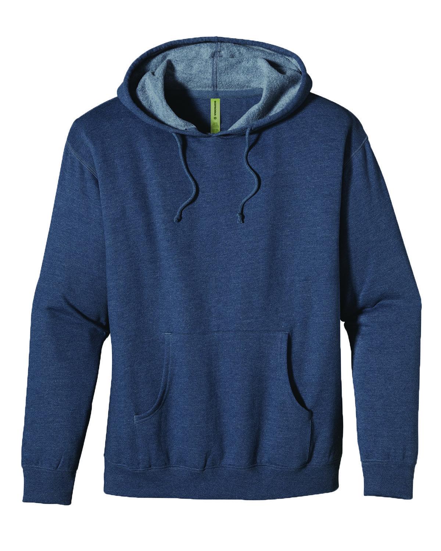 econscious Adult Organic/Recycled Heathered Fleece Pullover Hooded Sweatshirt WATER