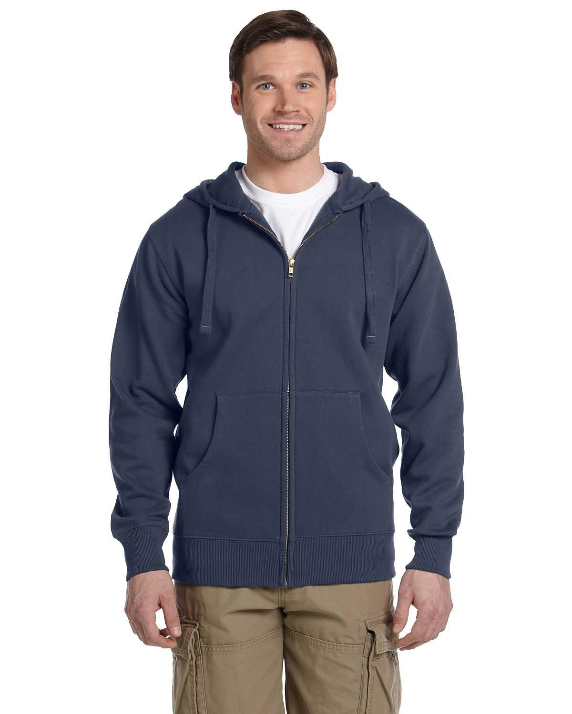 econscious Men's Organic/Recycled Full-Zip Hooded Sweatshirt PACIFIC