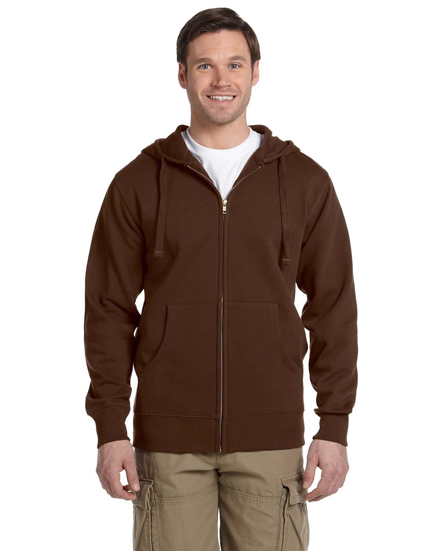 econscious Men's Organic/Recycled Full-Zip Hooded Sweatshirt EARTH