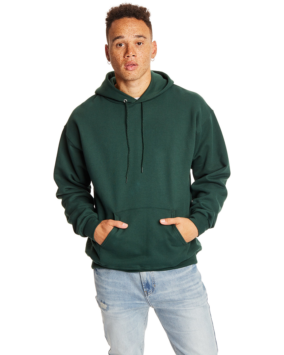 Hanes Adult Ultimate Cotton® 90/10 Pullover Hooded Sweatshirt DEEP FOREST