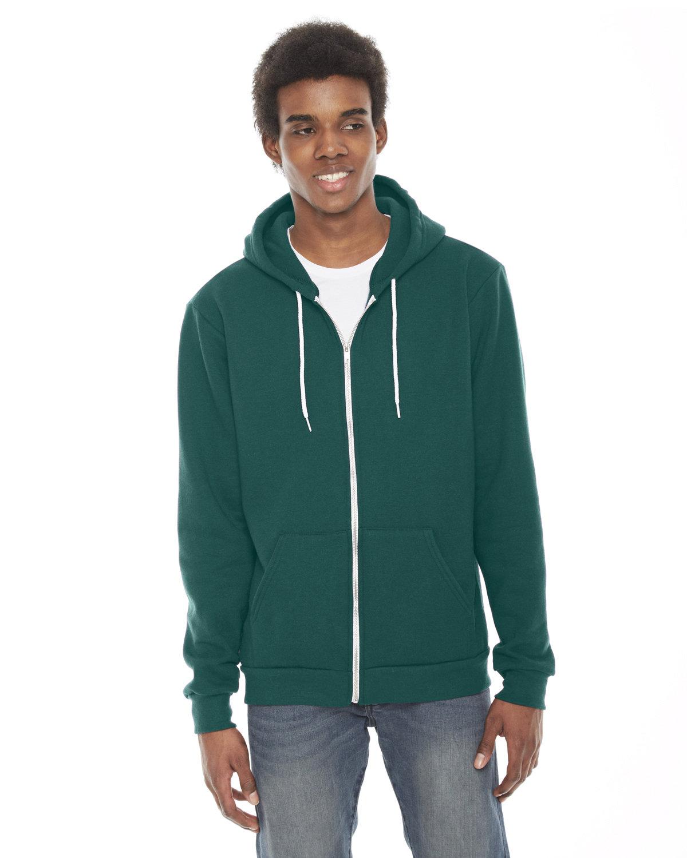 American Apparel Unisex Flex Fleece USA Made Zip Hoodie ULTRA BLUE