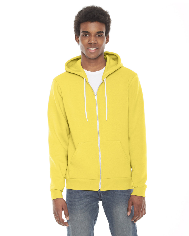 American Apparel Unisex Flex Fleece Zip Hoodie SUNSHINE
