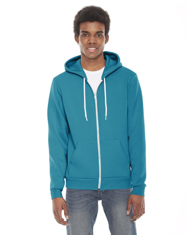 American Apparel Unisex Flex Fleece Zip Hoodie MERMAID GREEN