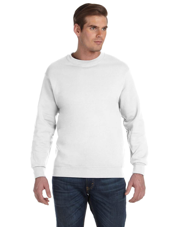 Gildan Adult DryBlend® Adult 50/50 Fleece Crew WHITE