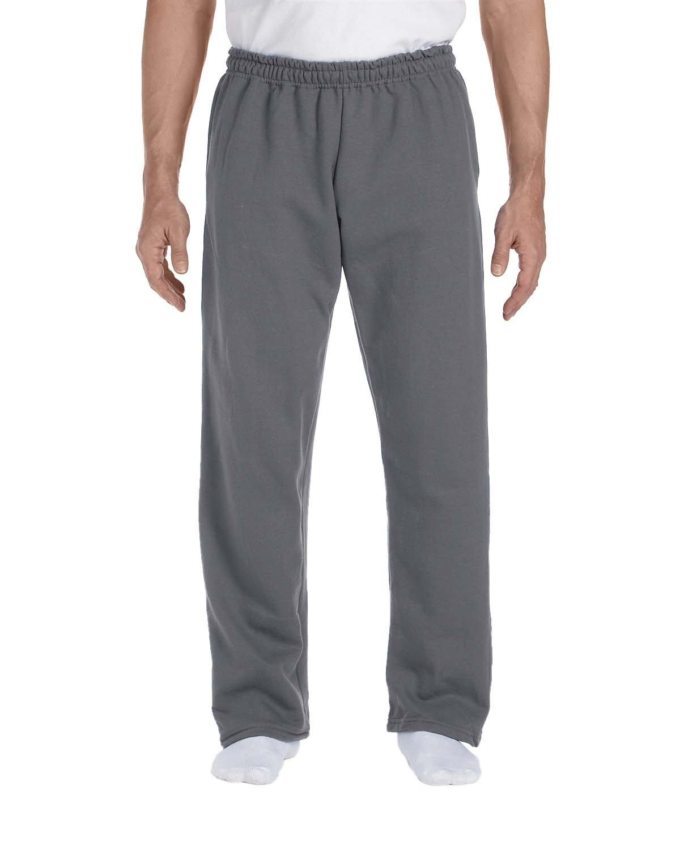 Gildan Adult DryBlend® Adult 9 oz., 50/50Open-Bottom Sweatpants CHARCOAL