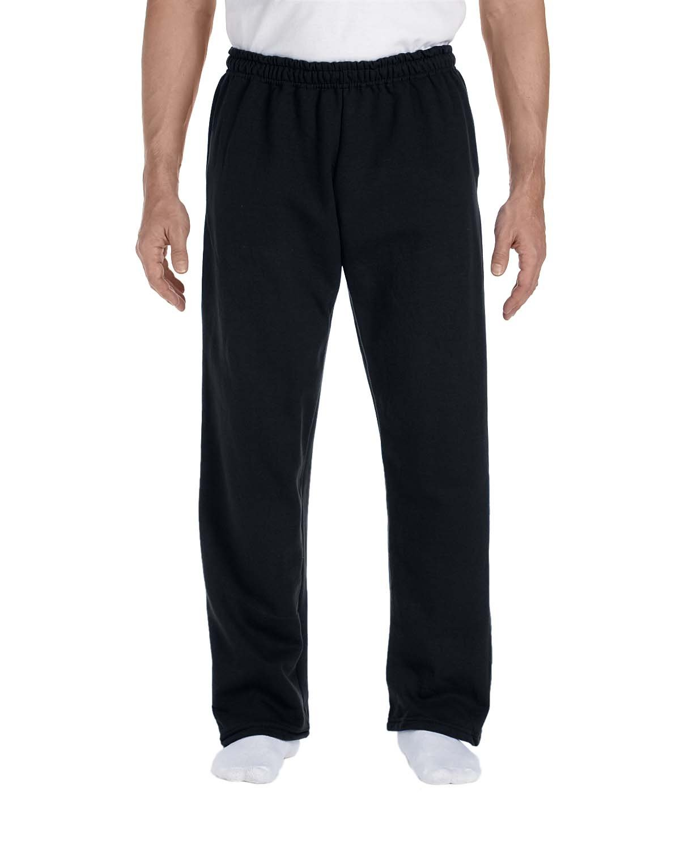 Gildan Adult DryBlend® Adult 9 oz., 50/50Open-Bottom Sweatpants BLACK