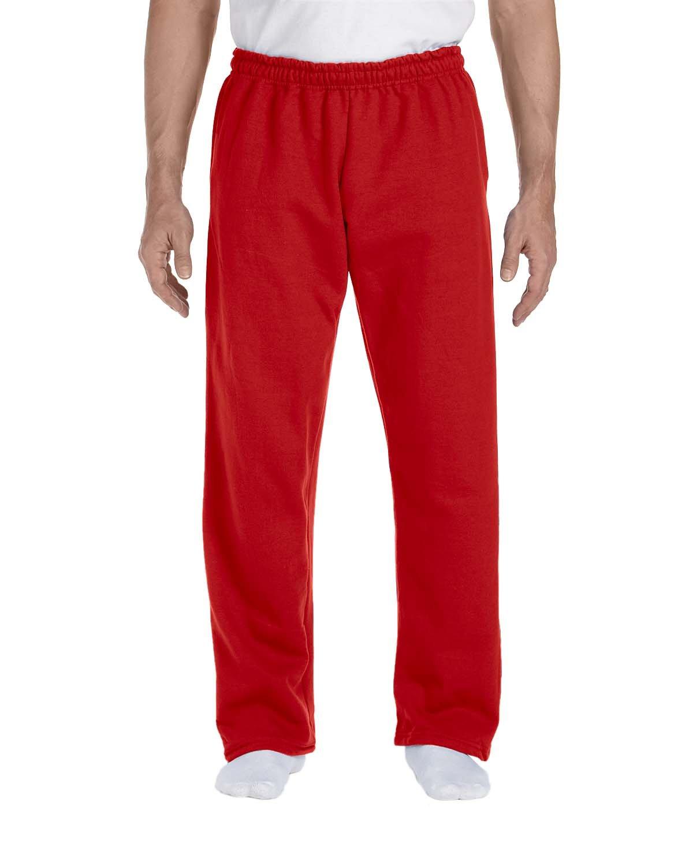 Gildan Adult DryBlend® Adult 9 oz., 50/50Open-Bottom Sweatpants RED