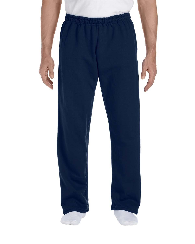Gildan Adult DryBlend® Adult 9 oz., 50/50Open-Bottom Sweatpants NAVY