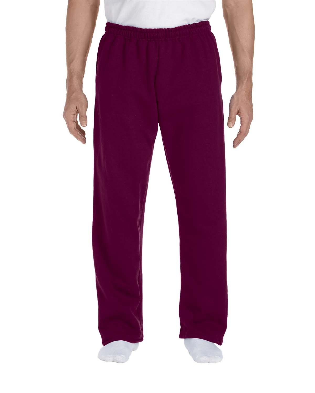 Gildan Adult DryBlend® Adult 9 oz., 50/50Open-Bottom Sweatpants MAROON
