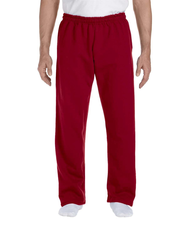 Gildan Adult DryBlend® Adult 9 oz., 50/50Open-Bottom Sweatpants CARDINAL RED