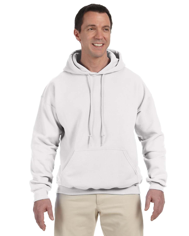 Gildan Adult DryBlend® Adult 50/50 Hooded Sweatshirt WHITE