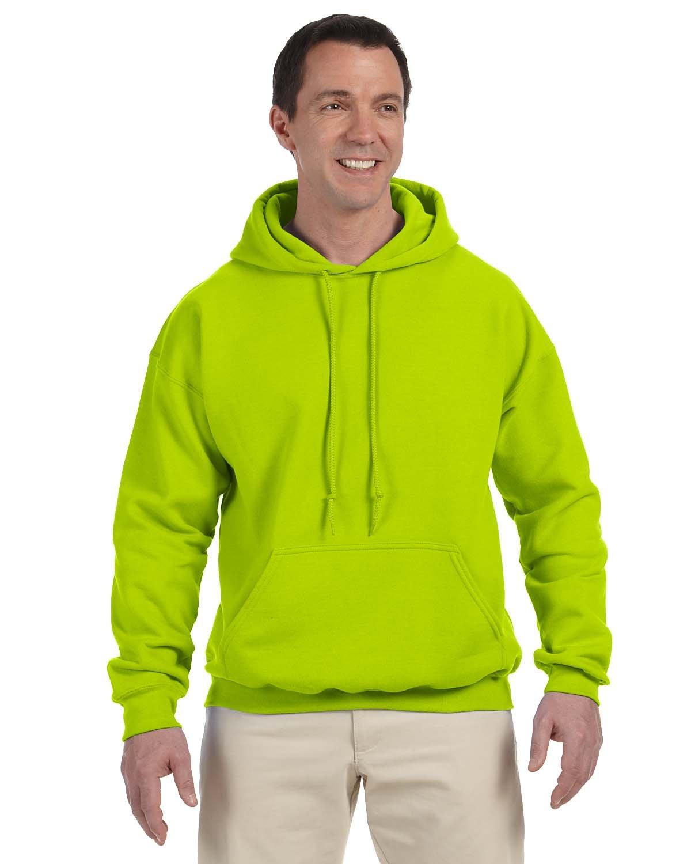 Gildan Adult DryBlend® Adult 50/50 Hooded Sweatshirt SAFETY GREEN