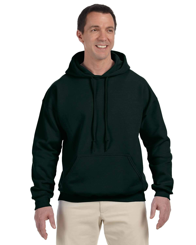 Gildan Adult DryBlend® Adult 50/50 Hooded Sweatshirt FOREST GREEN