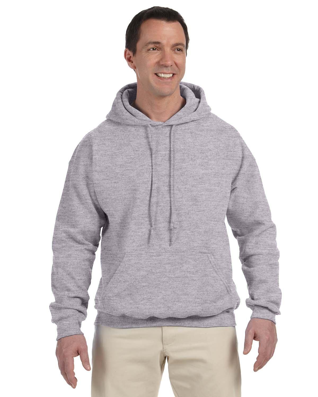 Gildan Adult DryBlend® Adult 50/50 Hooded Sweatshirt SPORT GREY