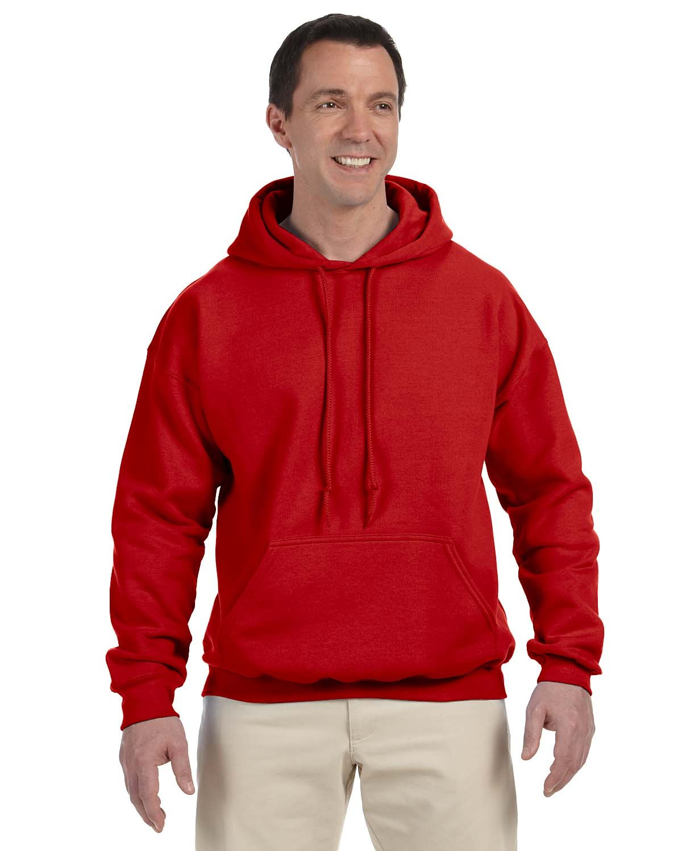 Gildan Adult DryBlend® Adult 50/50 Hooded Sweatshirt RED