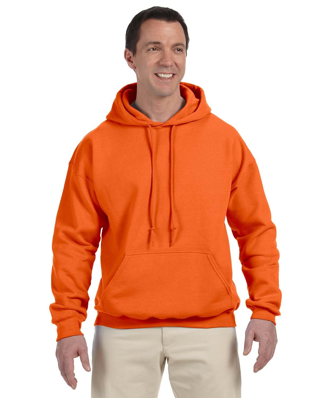 Gildan Adult DryBlend® Adult 50/50 Hooded Sweatshirt ORANGE