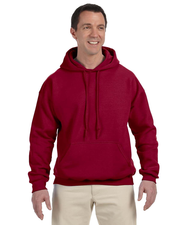 Gildan Adult DryBlend® Adult 50/50 Hooded Sweatshirt CARDINAL RED